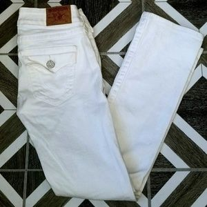True Religion Billy white size 27 jeans
